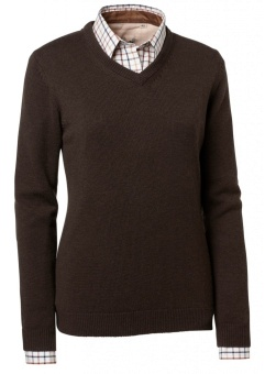 Chevalier Gaby Wool Lady Pullover w Patch Brown
