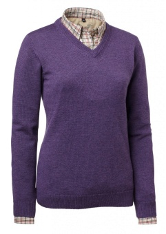 Chevalier Gaby Wool Lady Pullover w Patch Purple