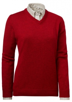 Chevalier Gaby Wool Lady Pullover w Patch Red