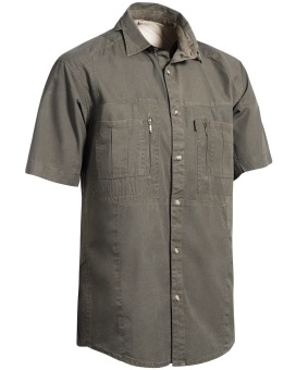 Chevalier Gobi Safari Shirt Short Sleeve Tobacco