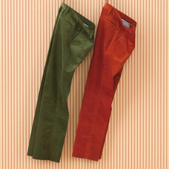 Laksen Grace Corduroy Trousers Grass