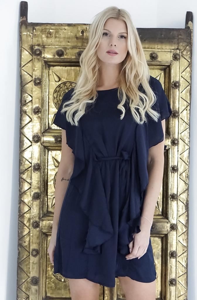 DRY LAKE - Sarah Dress Navy - Plain Vanilla AB c647d5d75a087