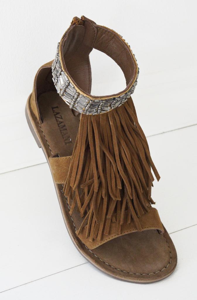 sandaler med fransar