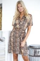 NA-KD - Snake Print Belt Dress