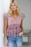 TWINSET - Silk Pink Paisley Top