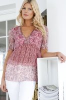 TWINSET - Silk Blus Paisley Pink