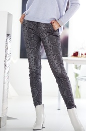 GUSTAV - Stretch Leather Snake Pants