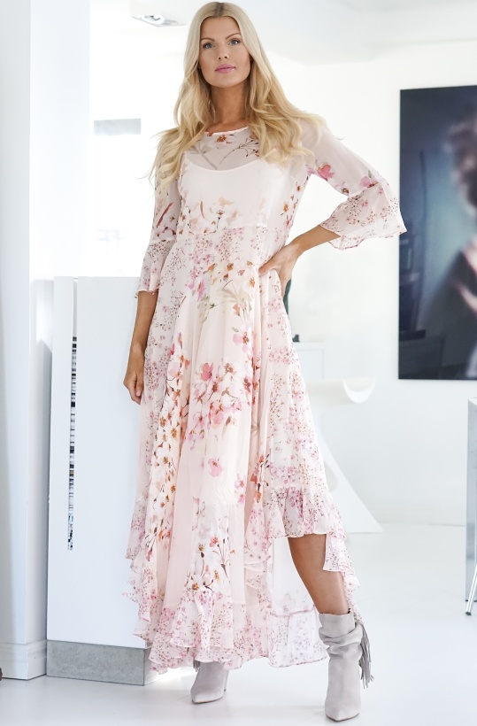 TWINSET - Floral Georgette Long Dress