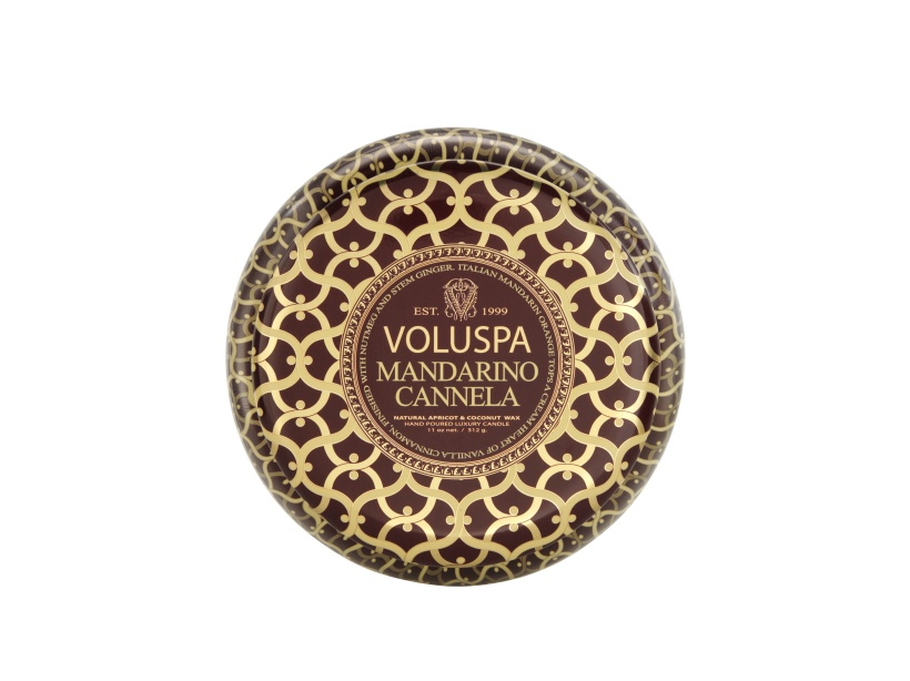Voluspa Mandarina Cannela - 2 wick in Tin, 50h