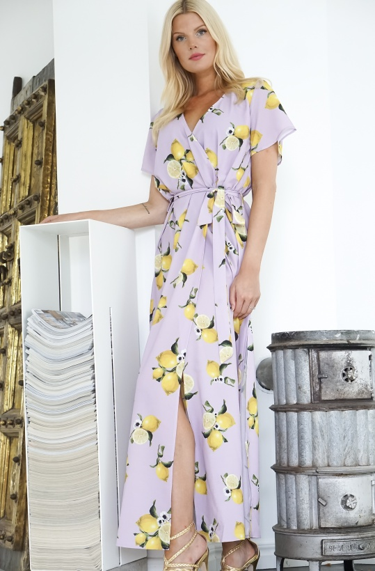 AERYNE - Leonie Dress Lilac Lemon