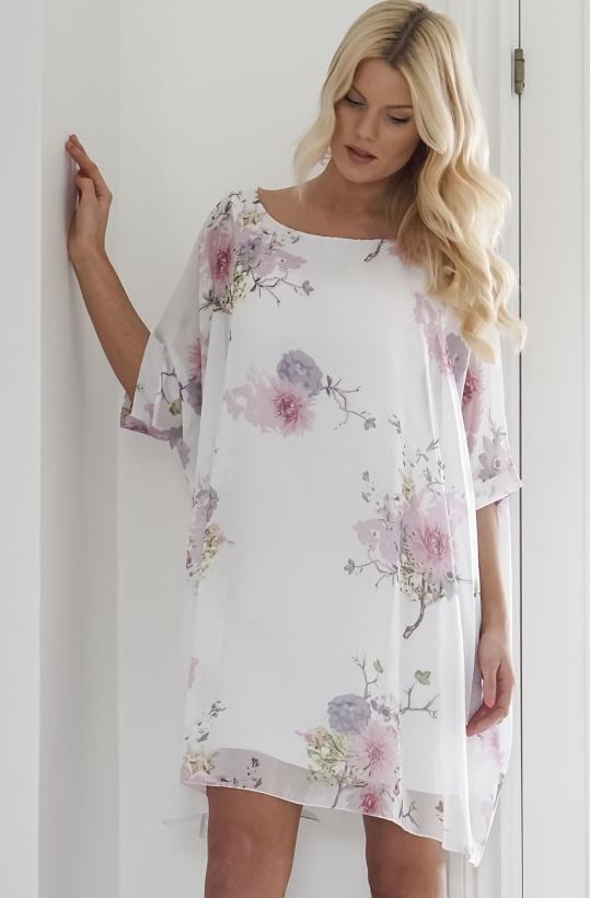 AJLAJK - Oversize Top/Klänning Flower