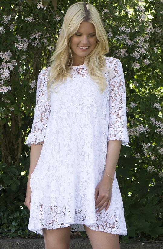 AJLAJK - Spetsklänning White