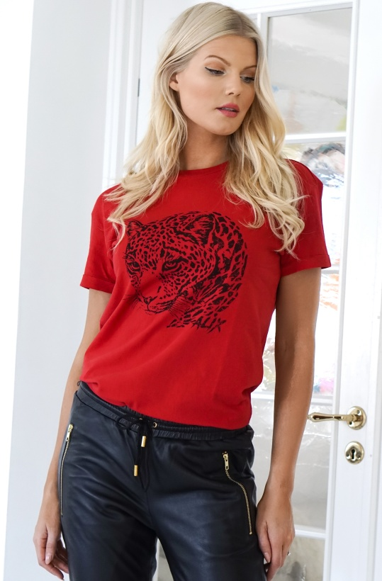 ALIX THE LABEL- Boxy T-shirt Leopard