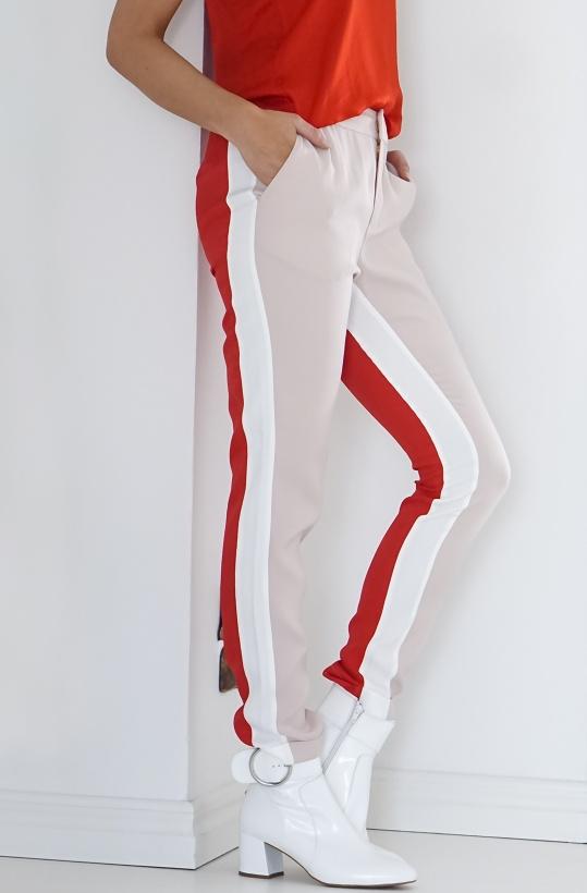 ALIX THE LABEL - Color Block Pants Pastel Pink