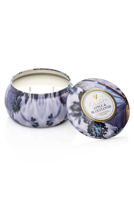 Voluspa Apple Blue Clover 2-wick metallic 50h