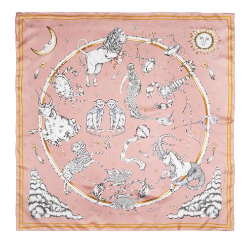 EMMA FÄLLMAN - Astrology Silk Scarf Midsize