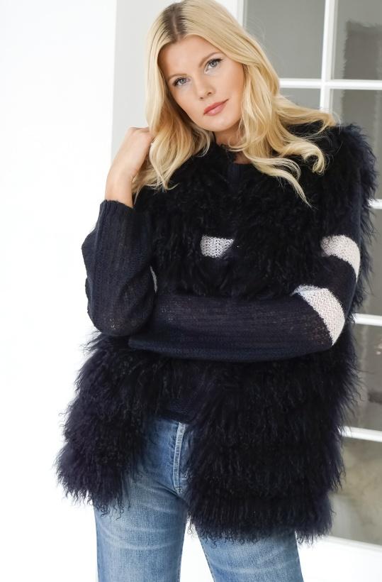 FURST - Blue Fur Vest