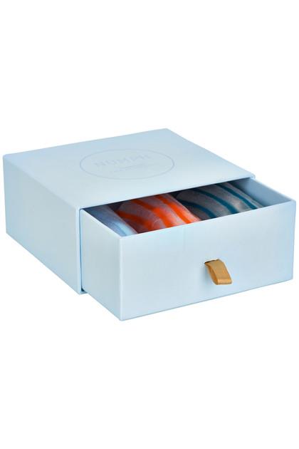 NUMPH - 3 pack socks stripe/transparent