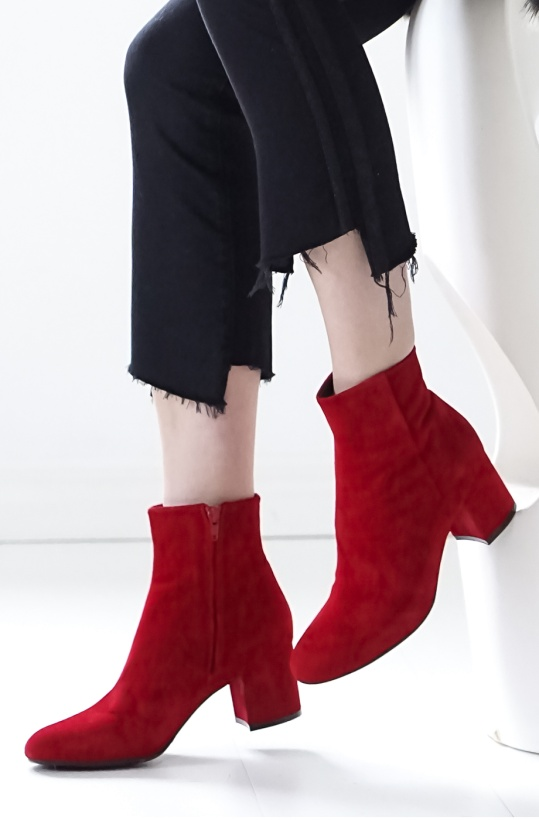 BILLI BI - Red Suede Boot