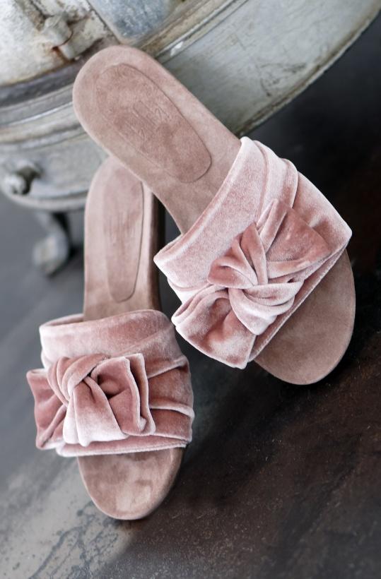 BILLI BI - Rosa Sammets-slipin med rosett