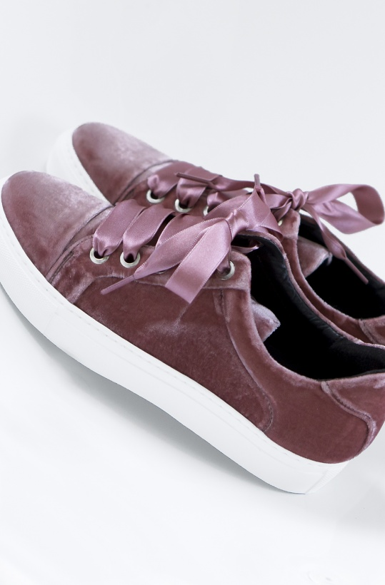 BILLI BI - Sneakers med breda band Sammet