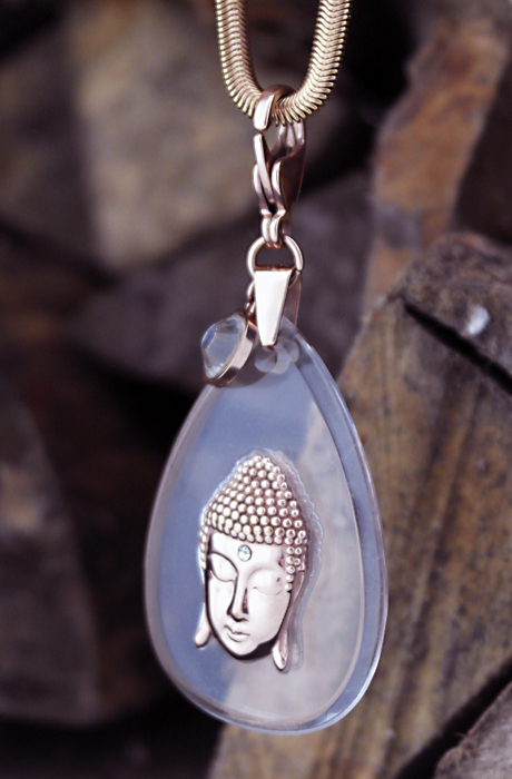 Buddha Necklace Rosé/Plexi