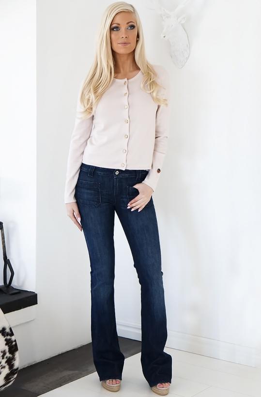 DONDUP - Mörka jeans med Fickor