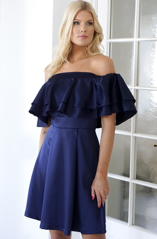BY MALINA - Inez Dress Dark Blue