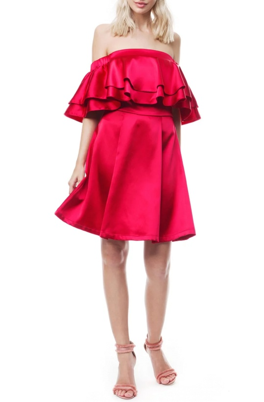 BY MALINA - Inez Dress Hot Orchid