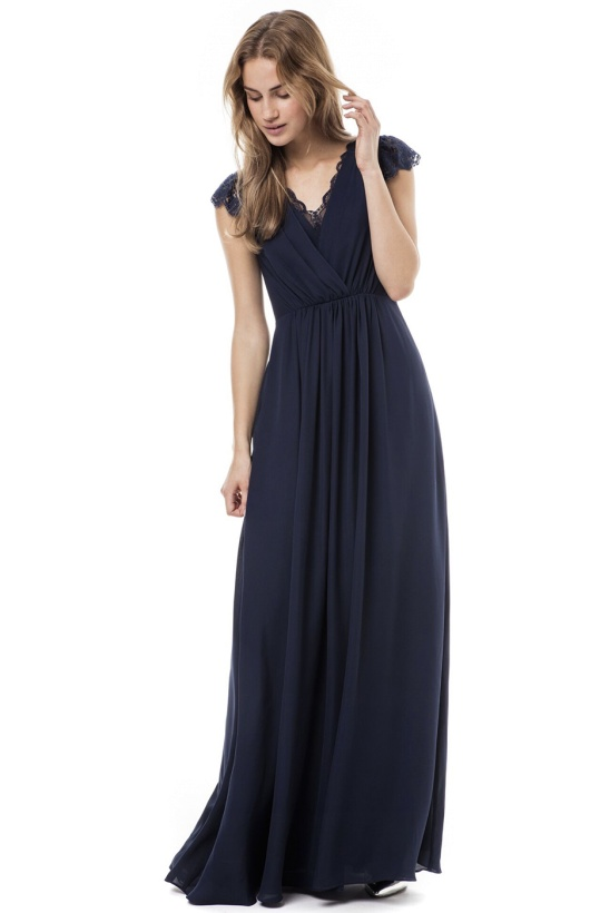 BY MALINA - Zarah Maxi Dress Dark Blue