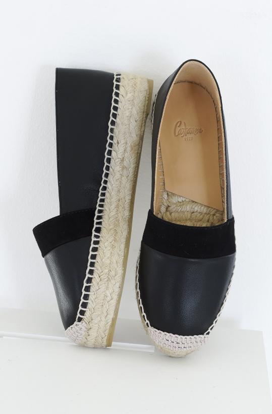 CASTANER - Espadrille Black Leather