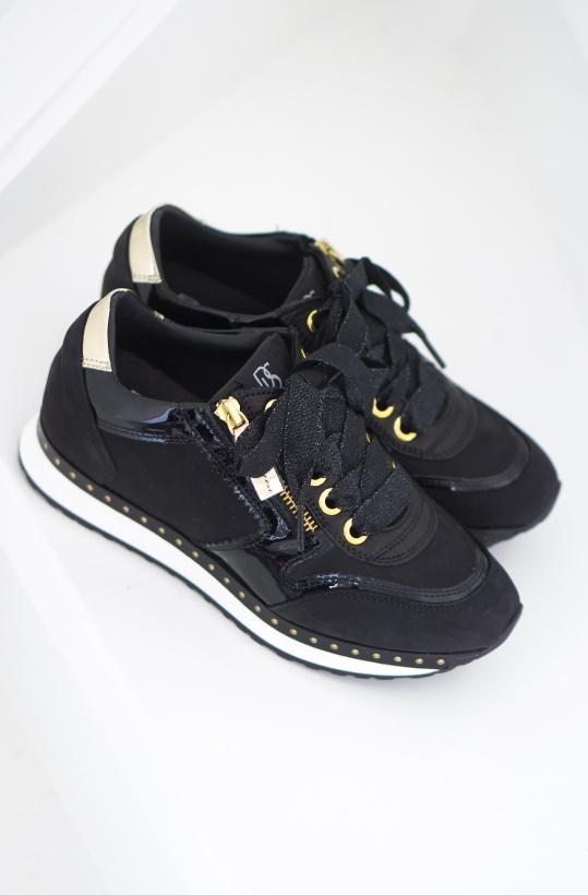 DL SPORT - Black Sneaker with Gold - End Sept