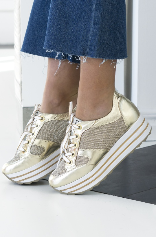DL SPORT - Guldig Platå Sneaker