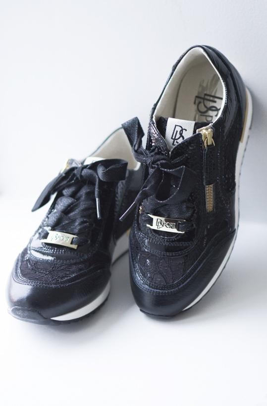 DLSPORT - Sneaker med Spets 3429