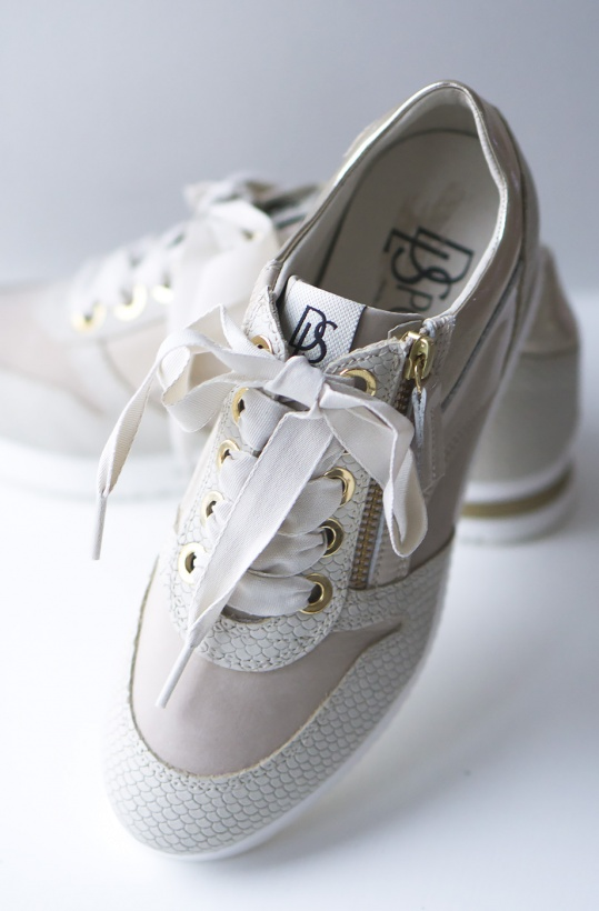 DL SPORT - Sneaker Guldbeige 3483