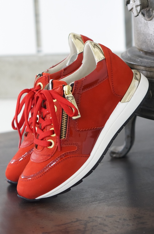 DL SPORT - Red sneaker with Gold -May 2018