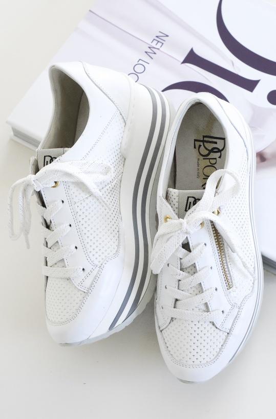 DL SPORT - Vit Platå Sneaker 4272