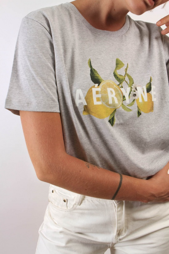 AERYNE - Daphne Organic Lemon Tshirt
