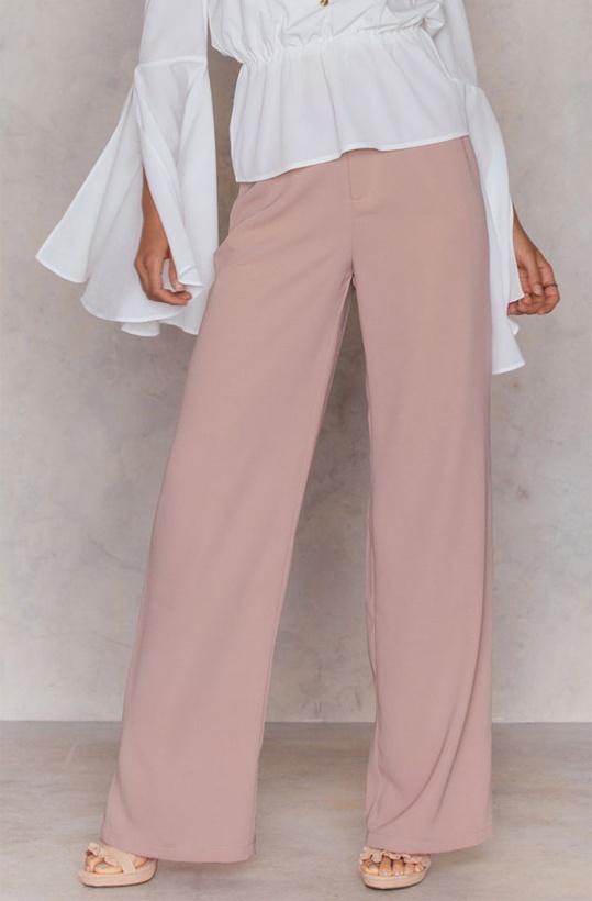 NA-KD Flared Pants Pink