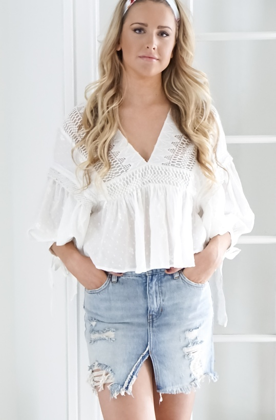 FREE PEOPLE - Drive You Mad Blouse