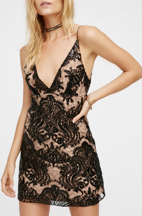 FREE PEOPLE - Night Shimmer Mini Dress