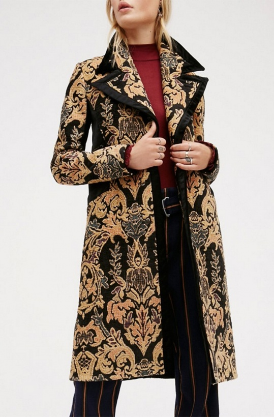 FREE PEOPLE - Jacquard Block Coat