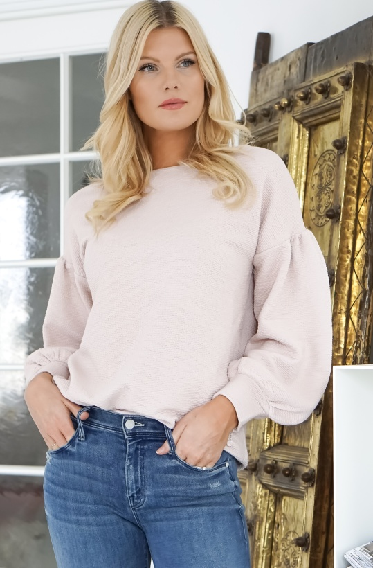 FRENCH CONNECTION - Ellen Balloon Sleeve Sweater