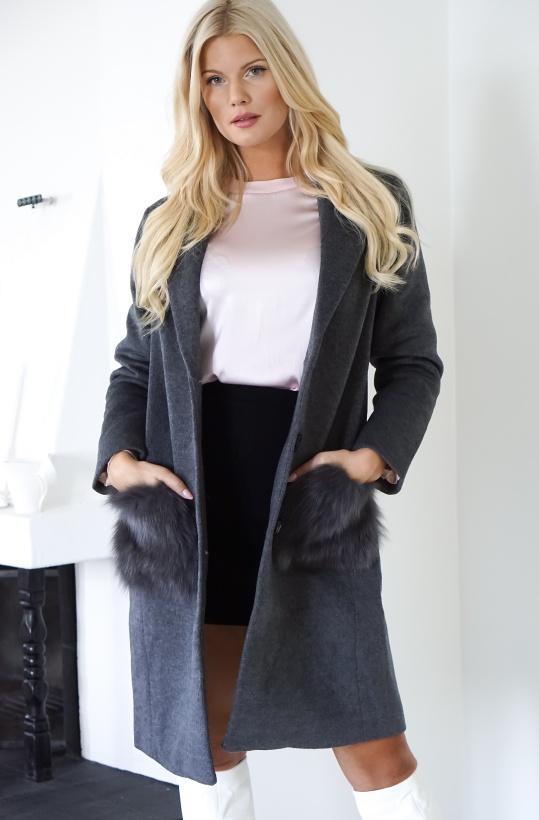 GUSTAV - Grey Wool Coat