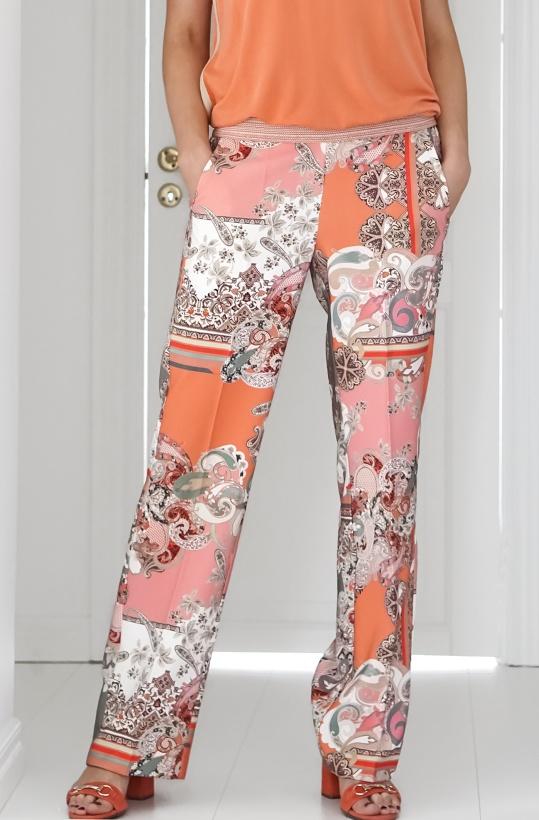 GUSTAV - Printed Wide Leg Pants