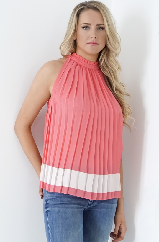 GUSTAV - Pleated Top Corall