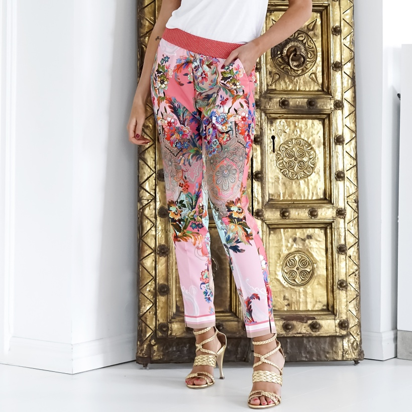 GUSTAV - Printed Regular Pants with Slit