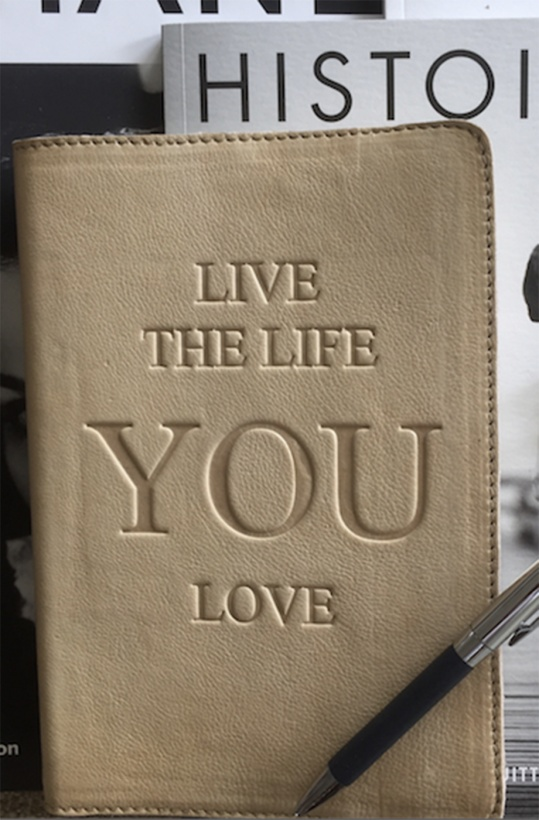 T.HERMAN - NoteBook Leather Live the Life you Love