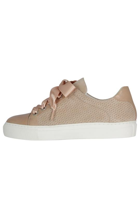 BILLI BI - Sneaker Nubuck Satin Ribbon