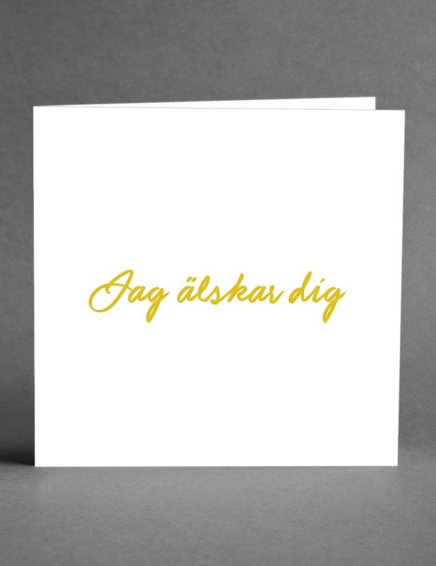 CARD STORE - Jag älskar Dig